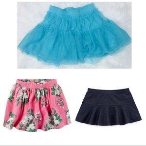 Cuddle of 3x 4 year old skirts